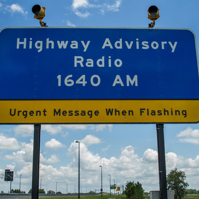 Highway Advisory Sign