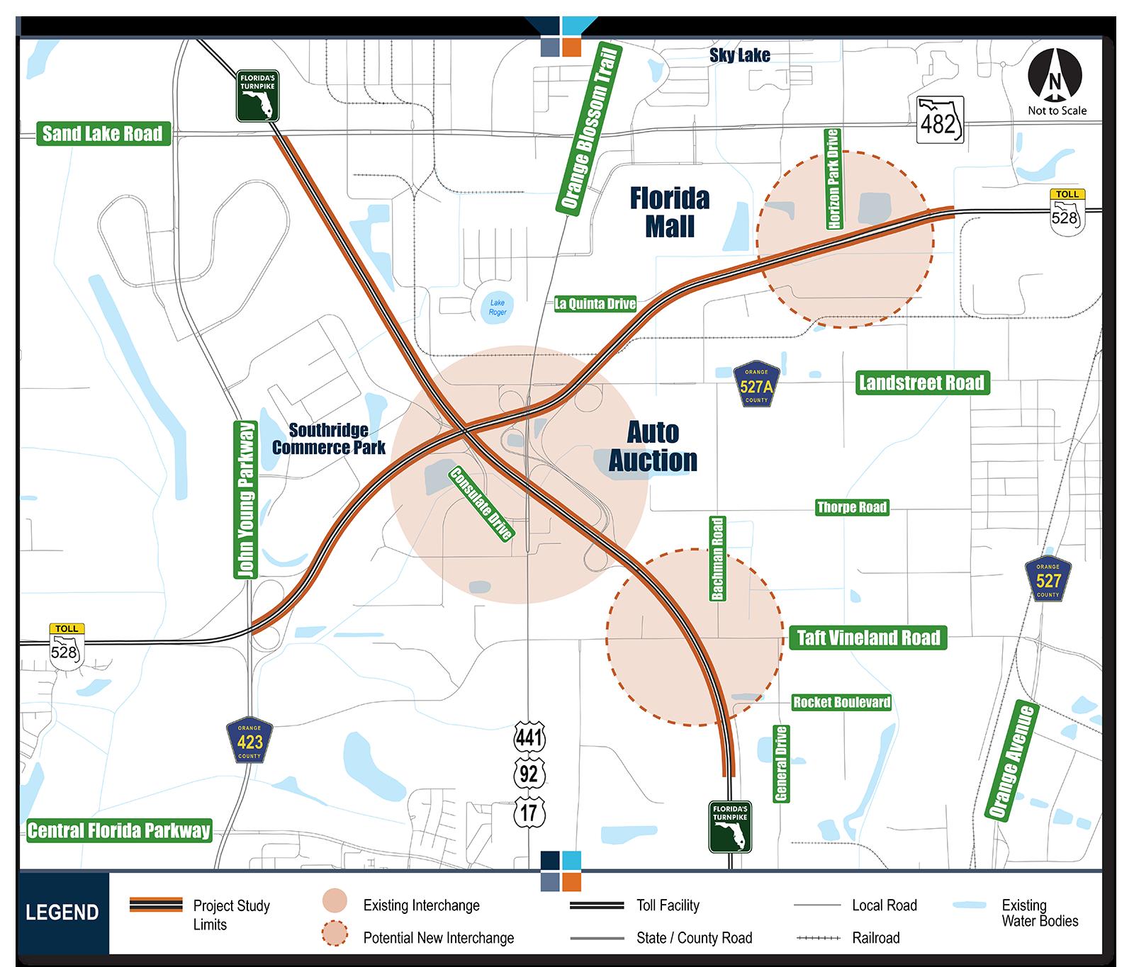 Orlando South Map