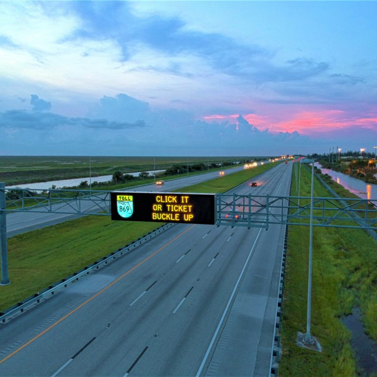Sawgrass Expressway DMS Sign
