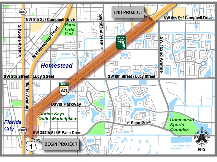 Florida's Turnpike Road Map