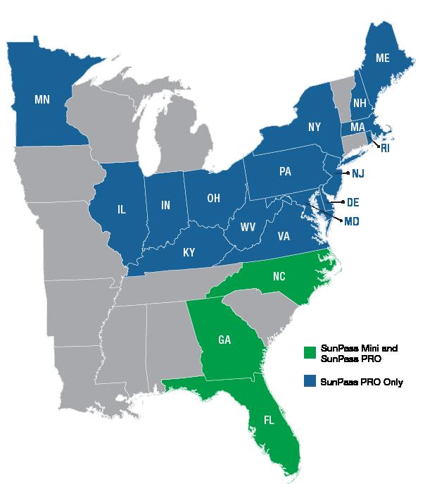 SunPass PRO and Mini Map